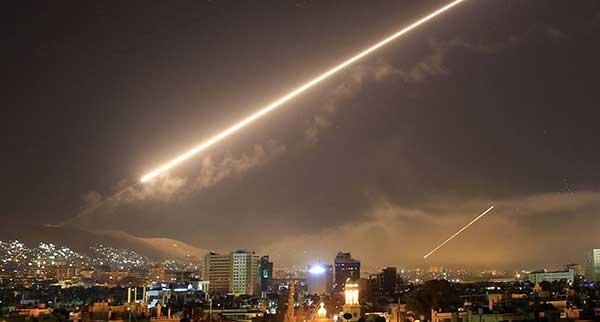 fotos del bombardeo a Siria por Estados Unidos