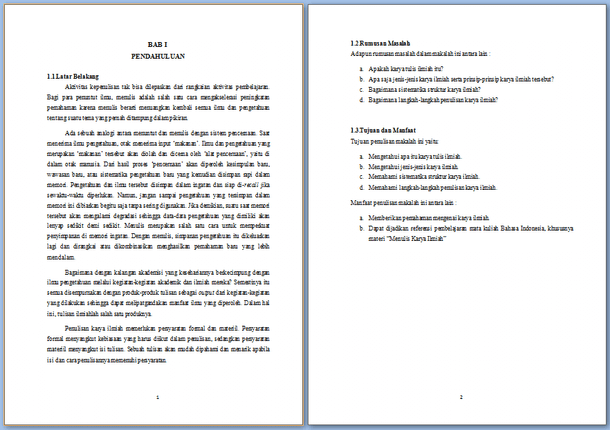 Contoh Artikel Ilmiah Bahasa Indonesia Kumpulan Soal Pelajaran 6