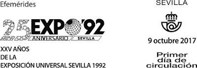 Filatelia - Sevilla -  XXV Aniversario Expo92 - 2017 - Matasellos