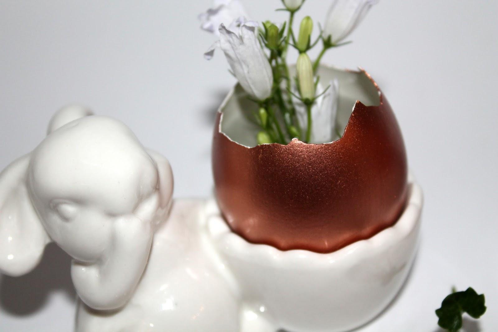 DIY: gebastelte Kerzeneier als Osterdekoration