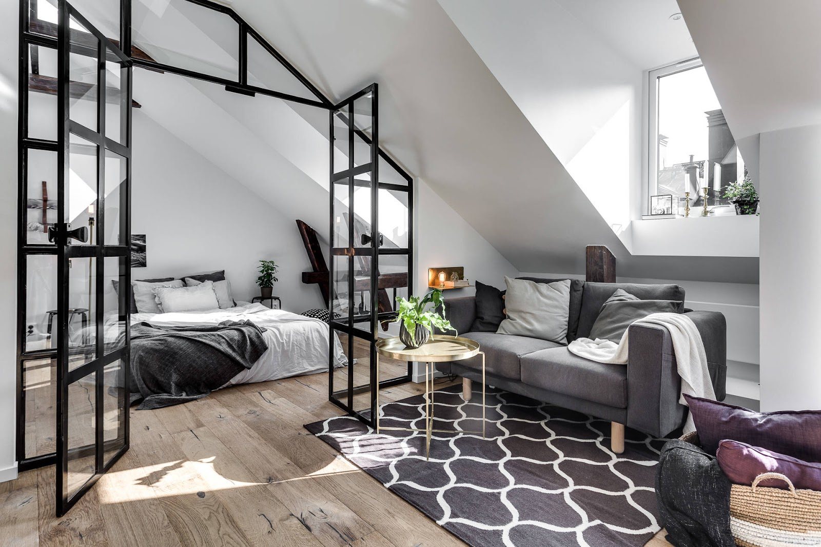 Decordemon david bagares gata 26c attic apartment with Industrial scandinavian bedroom