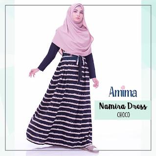 Gamis Amima Namira Dress Choco