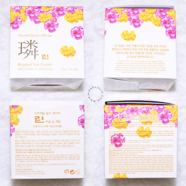REVIEW ON HANSAENG COSMETICS RIN BI-GYEOL YUN CREAM