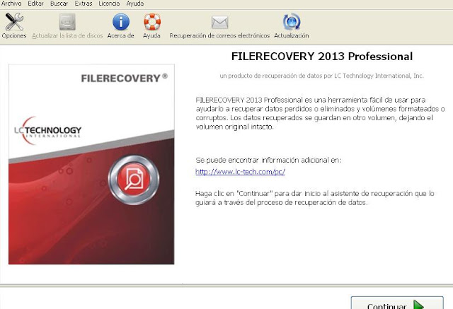 FileRecovery 2013 Version 5.5.4.6 Professional Español