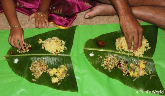lunch on banana leaf