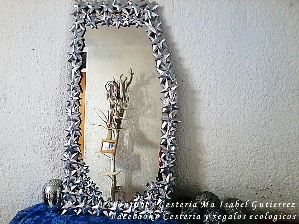 Cester a y regalos ecol gicos isa como decorar un espejo for Como decorar un espejo rectangular sin marco