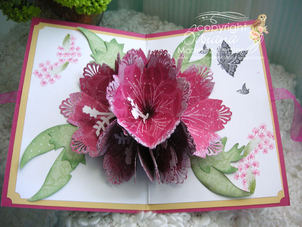 stamping with bibiana 7 petal pop up flower for the