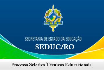 Processo seletivo Seduc - RO Apostila Técnico Educacional