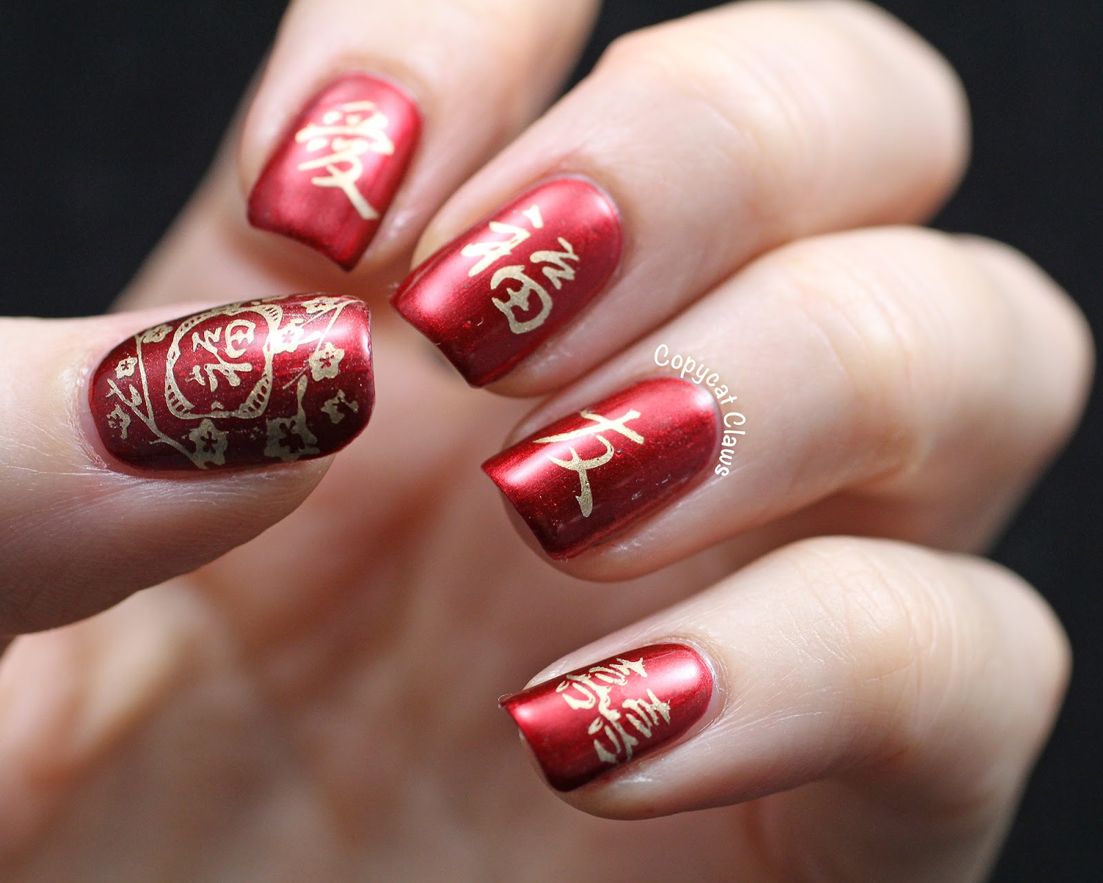 Copycat Claws Chinese New Year Nail Art Aka Sunday