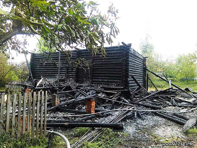 Мужчина погиб на пожаре в Торгашино Сергиев Посад