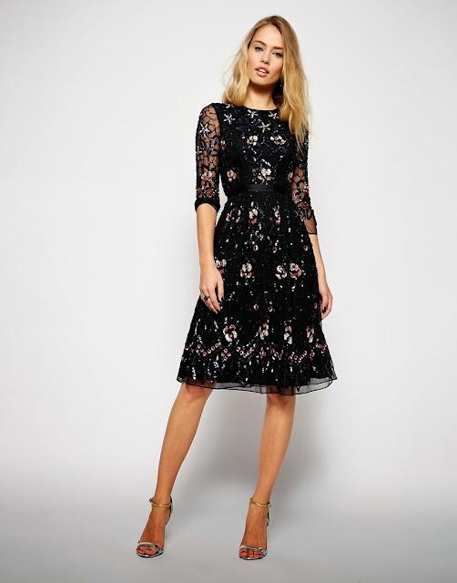 needle and thread black dress