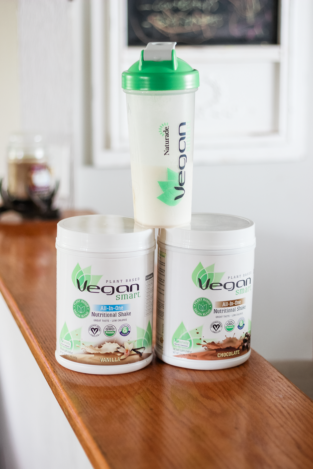 Cue VeganSmart All In One Nutritional Shakes They Are A Plant Based Protein Powder That Includes Five Different Non GMO Proteins