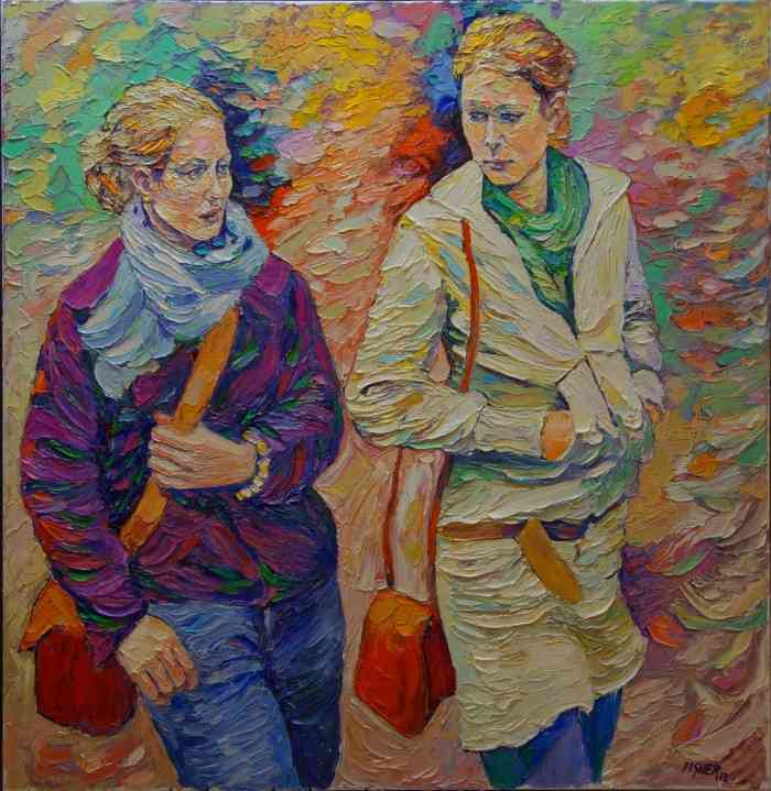 Толстые слои масляной краски. Abraham Fisher
