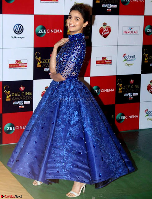Alia Bhatt in Blue Frock Won Viewers Choice Best Actress award for Badrinath Ki Dulhania Walk the Red Carpet of Zee Awards 2017i ~  Exclusive Galleries  038.jpg