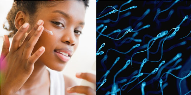 SPECIALIST SAYS SPERM CAN HELP GET RID OF PIMPLES, ACNE, AND SMOOTH THE SKIN.