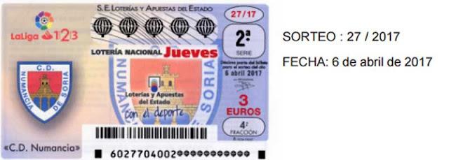 Sorteo 27 de lotería nacional del jueves 6 de abril de 2017