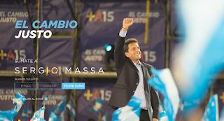 La Página de campaña de Sergio Massa
