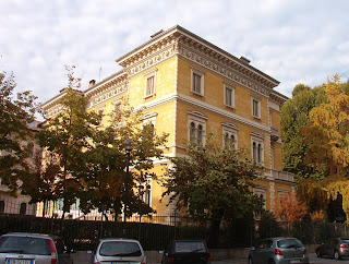 The house is typical of those in Crocetta, a prestigious residential district