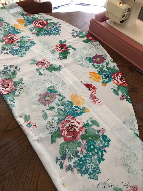 Clover House Pioneer Woman Tablecloth Turned Into Curtains