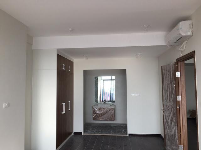 Căn hộ 133m2  Discovery complex hoàn thiện nội thất phòng ngủ chính