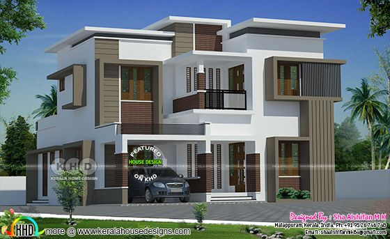 2189 sq-ft box model modern house plan