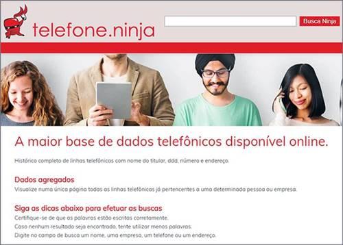 Site telefone.ninja pode revelar seu e-mail, endereço e número de celular