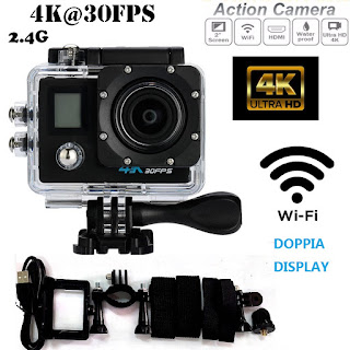 pro cam gopro action camera doppio lcd 4k wifi