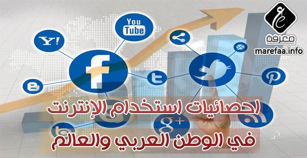 احصائيات استخدام الإنترنت في الوطن العربي والعالم