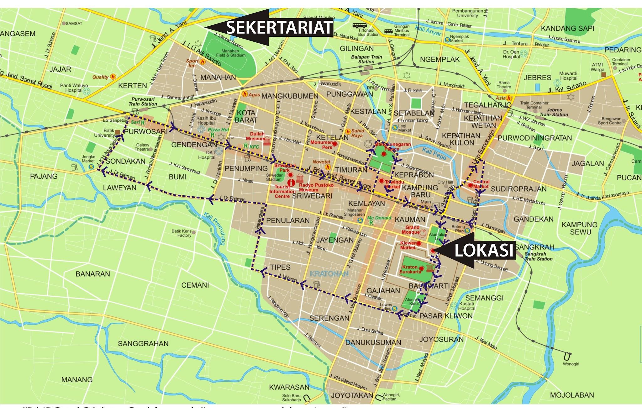 Peta Kota: Peta Kota Solo