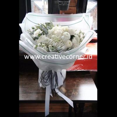 Kertas Buket Bunga / Hand Bouquet Seri WM-060060-Border