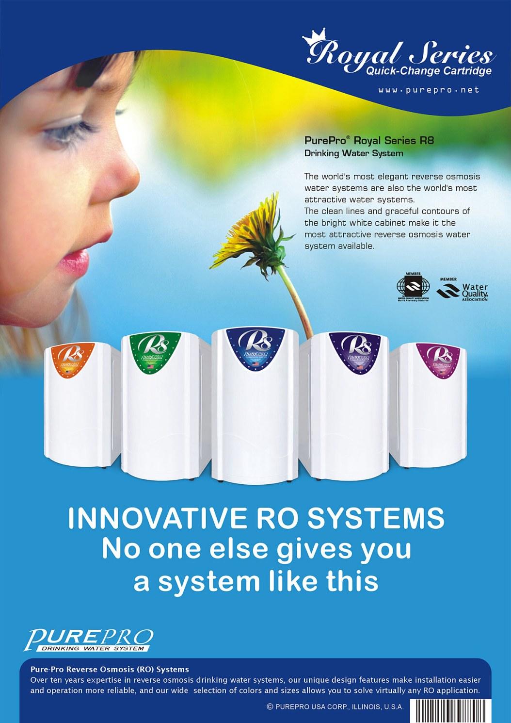 美國PurePro®皇家系列淨水器 R8  - 鹼性RO活水機 - 台灣總代理原廠公司貨 PurePro® R8