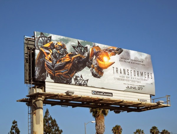 Bumblebee Transformers Age of Extinction billboard