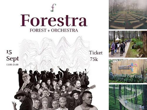 Konser Musik di Orcid Forest Cikole Lembang