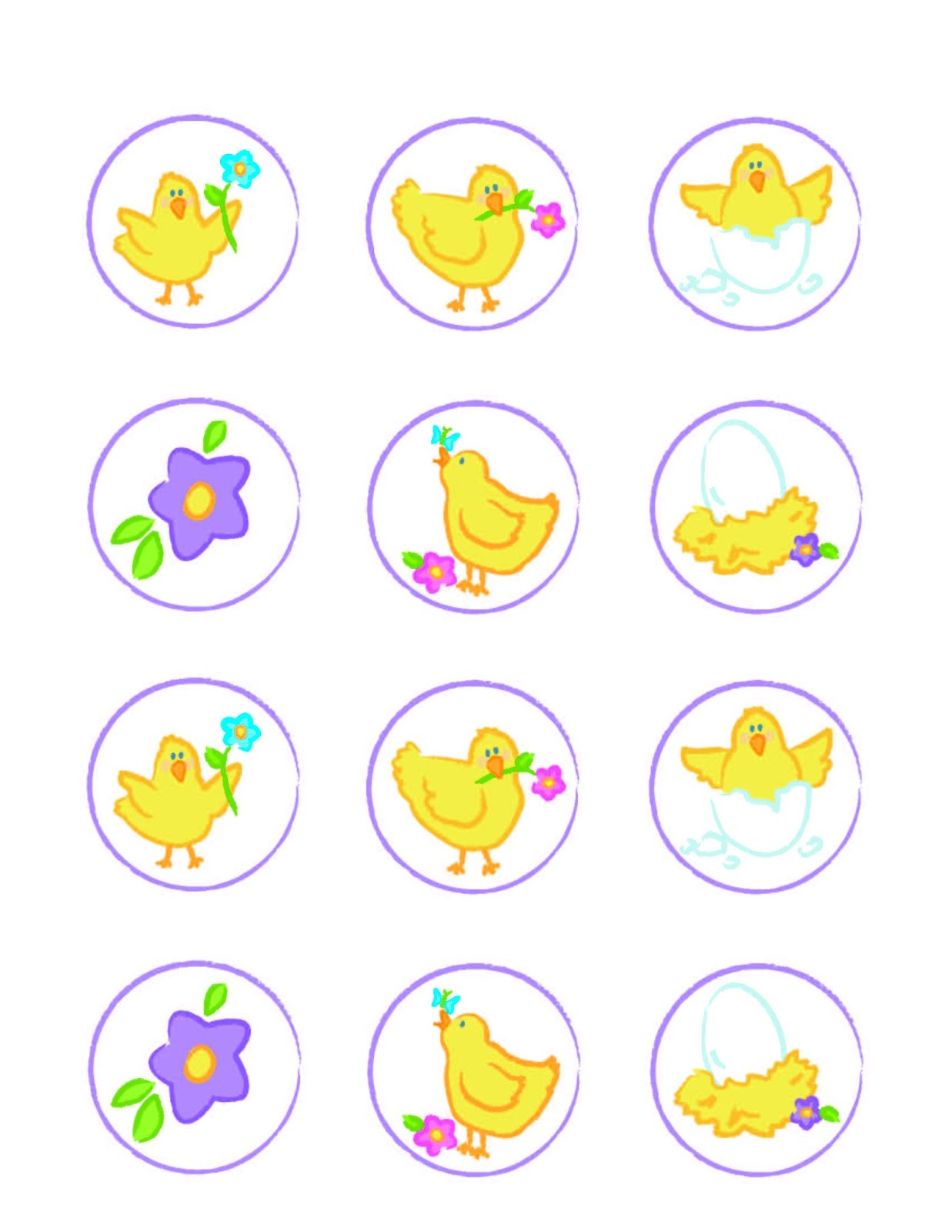 Everyday Art Spring Chick Printables