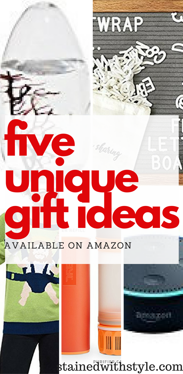 Five Unique Amazon Gift Ideas Stained With Style