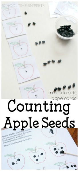apple theme counting printable