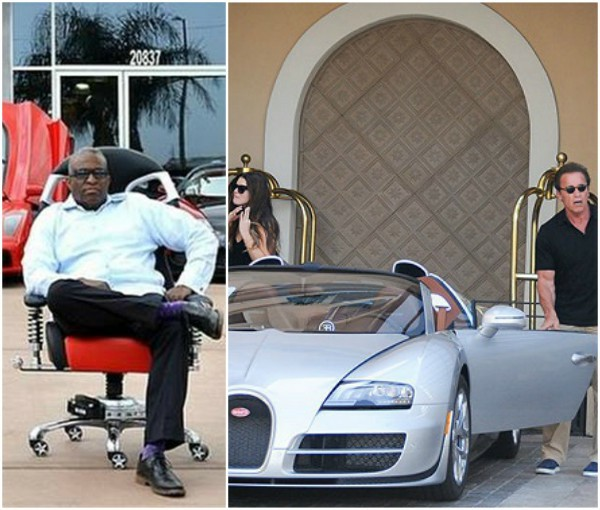 Nigeria man Obi Okeke, popularly known as Doctor Bugatti buys Schwarzenegger's car for $2.5m