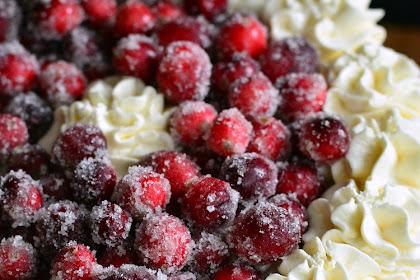 Christmas Cheesecake (Cranberry Jam White Chocolate Mousse Cheesecake)