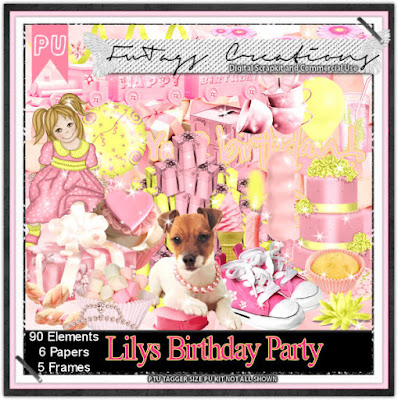 Lilys Birthday Party, Scrap kit by Claire Slack aka FwTags