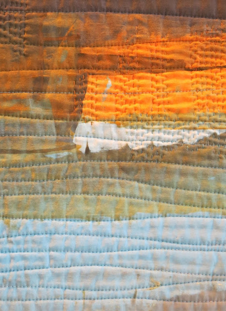 Birmingham Festival of Quilts 2016 - Detail of Headland by Janet McCallum