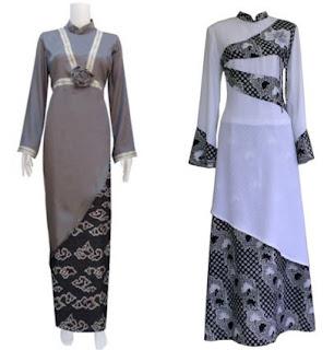 Model Baju Batik Kombinasi Sifon untuk remaja