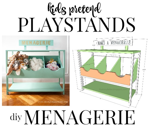 diy kids playstand menagerie free plans