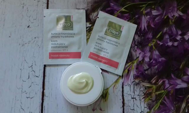 Ziaja med krem redukujący podrażnienia kuracja łagodząca zmiany trądzikowe trądzik różowaty