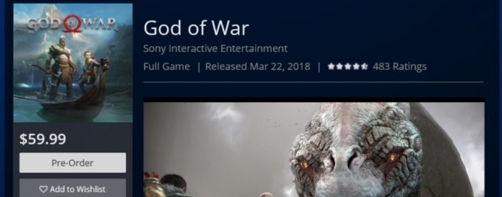 God of War saldría el 22 de marzo según la store