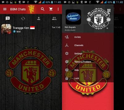 Download BBM Mod Manchester United MU Apk Terbaru