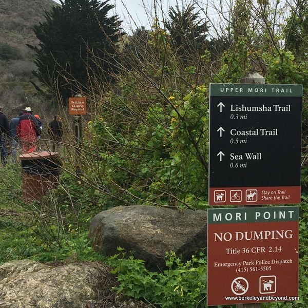 Mori Point trail in Pacifica, California