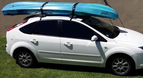 "Legend Kayaks ""Soft"" Roof Rack on vehicle"