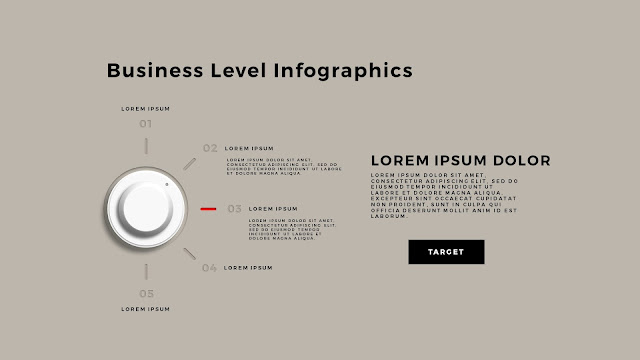 Business Level Infographics Free PowerPoint Template Slide 3