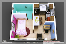 3d Isometric Views Of Small House Plans - Kerala Home