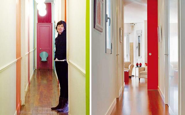 Marzua c mo decorar pasillos con las puertas for Vinilos pared pasillo
